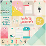 Crate Paper - Poolside Collection - 12 x 12 Double Sided Paper - Flip Flops
