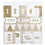 Crate Paper - Poolside Collection - 12 x 12 Acetate Paper with Foil Accents - Cut-Up