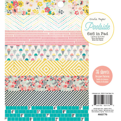Crate Paper - Poolside Collection - 6 x 6 Paper Pad
