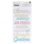 Crate Paper - Poolside Collection - Thickers - Chipboard - Phrases - Sun Kissed