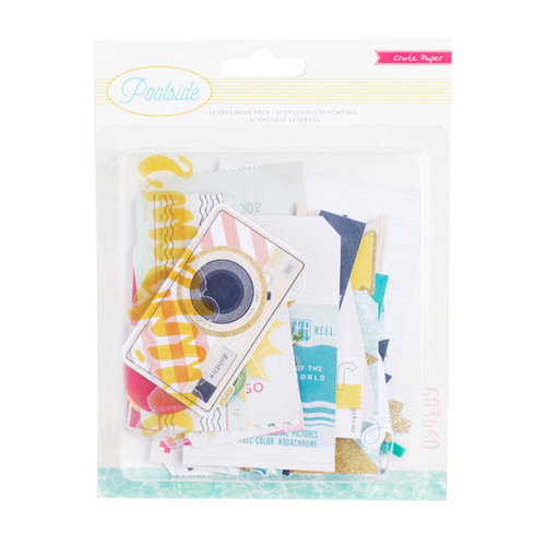 Crate Paper - Poolside Collection - Ephemera with Glitter Accents