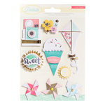 Crate Paper - Poolside Collection - Standouts with Foil and Glitter Accents