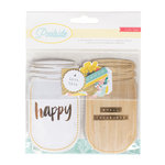Crate Paper - Poolside Collection - Jar Pockets with Foil and Glitter Accents