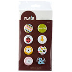 American Crafts - Flair - Everyday - 8 Adhesive Badges - Smile