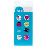 American Crafts - Teen Collection - Teen Flair - Adhesive Badges - Sweet, CLEARANCE