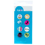 American Crafts - Teen Collection - Teen Flair - Adhesive Badges - Tunes, CLEARANCE