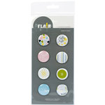 American Crafts - Flair - Baby - 8 Adhesive Badges - Nighty Night, CLEARANCE