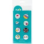 American Crafts - Flair - Craft Fair - 8 Adhesive Badges - DIY, CLEARANCE