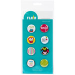 American Crafts - Flair - Craft Fair - 8 Adhesive Badges - Made With Love