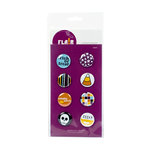 American Crafts - Flair - Halloween - 8 Adhesive Badges - EEEK, CLEARANCE