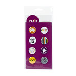 American Crafts - Flair - Halloween - 8 Adhesive Badges - Boo, CLEARANCE
