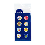 American Crafts - Flair - Junior - 8 Adhesive Badges - Vroom