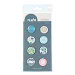 American Crafts - I Do Collection - Flair - 8 Adhesive Badges - Forever, CLEARANCE