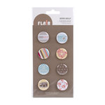 American Crafts - Peachy Keen Collection - Flair - 8 Adhesive Badges - Good Golly