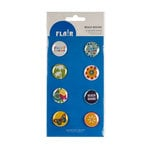 American Crafts - Margarita Collection - Flair - 8 Adhesive Badges - Beach Bound