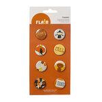 American Crafts - Nightfall Collection - Halloween - Flair - 8 Adhesive Badges - Thanks