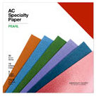 American Crafts - 12 x 12 Specialty Cardstock Pack - 30 sheets - Pearl - Alligator and Silk