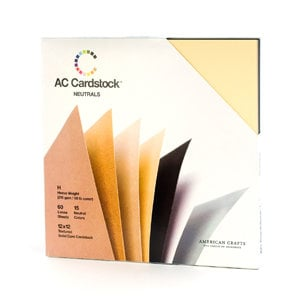 American Crafts - 12 x 12 Cardstock Pack - 60 Sheets - Neutrals