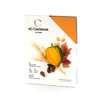 American Crafts - 8.5 x 11 Cardstock Pack - 60 Sheets - Autumn, CLEARANCE