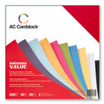 American Crafts - 12 x 12 Cardstock Pack - 100 Sheets - Multi Color