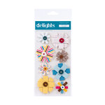 American Crafts - Confetti Collection - Delights - 3 Dimensional Stickers - Party Favor
