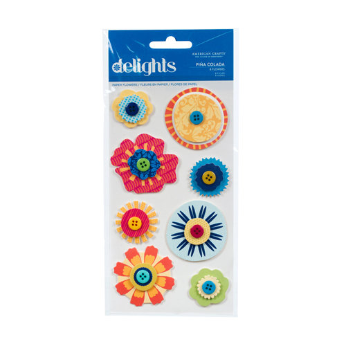 American Crafts - Margarita Collection - Delights - 3 Dimensional Stickers - Pina Colada, CLEARANCE