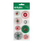 American Crafts - Hollyday Collection - Christmas - Delights - 3 Dimensional Stickers - Peppermint