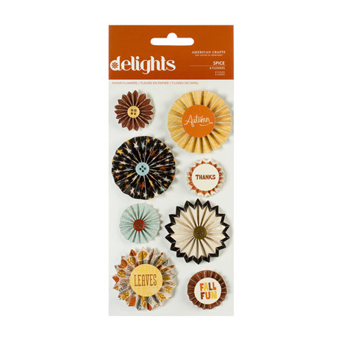American Crafts - Nightfall Collection - Halloween - Delights - 3 Dimensional Stickers - Spice
