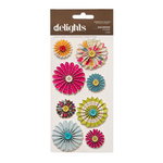 American Crafts - Garden Cafe Collection - Delights - 3 Dimensional Stickers - Macaroon
