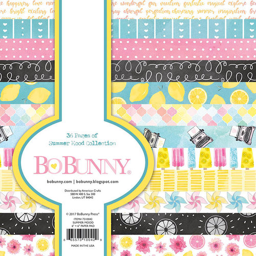 BoBunny - Summer Mood Collection - 6 x 6 Paper Pad