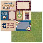 Bo Bunny - Stay Awhile Collection - 12 x 12 Double Sided Paper - Cozy