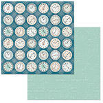 BoBunny - Early Bird Collection - 12 x 12 Double Sided Paper - Clocks