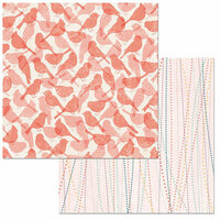 BoBunny - Early Bird Collection - 12 x 12 Double Sided Paper - Songbird