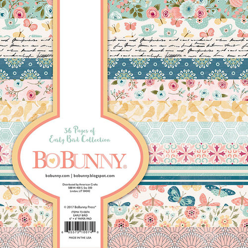 BoBunny - Early Bird Collection - 6 x 6 Paper Pad