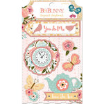 BoBunny - Early Bird Collection - Layered Chipboard Stickers