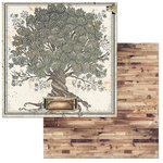 BoBunny - Once Upon a Lifetime Collection - 12 x 12 Double Sided Paper - Family Tree