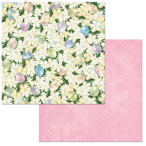 BoBunny - Cottontail Collection - 12 x 12 Double Sided Paper - Cottontail