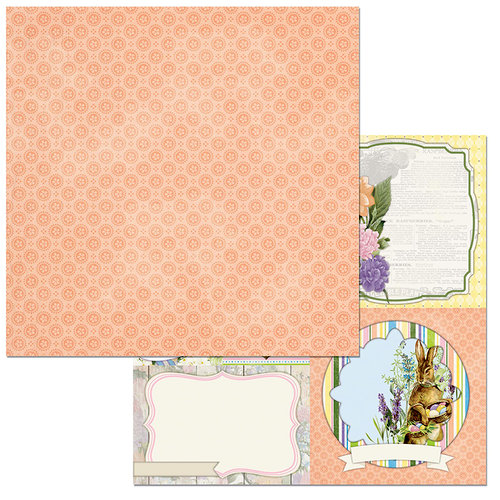 BoBunny - Cottontail Collection - 12 x 12 Double Sided Paper - Bunnies