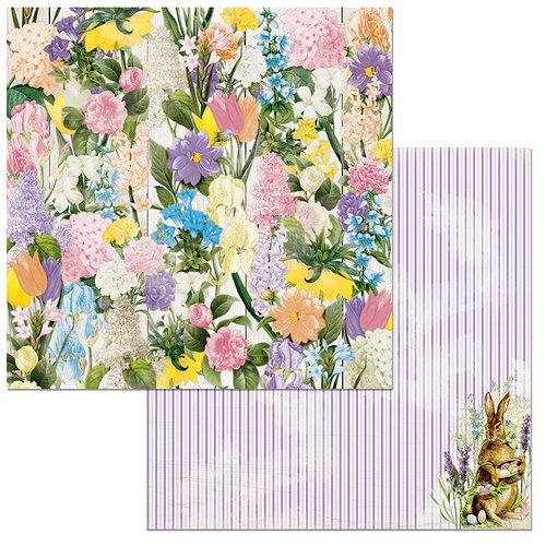 BoBunny - Cottontail Collection - 12 x 12 Double Sided Paper - Flowers