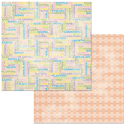 BoBunny - Cottontail Collection - 12 x 12 Double Sided Paper - Pastels