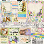 BoBunny - Cottontail Collection - 12 x 12 Cardstock Stickers - Combo
