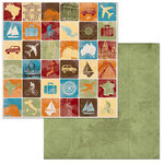 BoBunny - World Traveler Collection - 12 x 12 Double Sided Paper - Destination