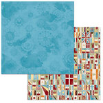 BoBunny - World Traveler Collection - 12 x 12 Double Sided Paper - Oceans
