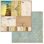 BoBunny - World Traveler Collection - 12 x 12 Double Sided Paper - Wanderlust