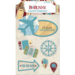 BoBunny - World Traveler Collection - Layered Chipboard Stickers