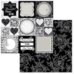 BoBunny - Black Tie Affair Collection - 12 x 12 Double Sided Paper - Formal