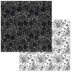 BoBunny - Black Tie Affair Collection - 12 x 12 Double Sided Paper - Lace