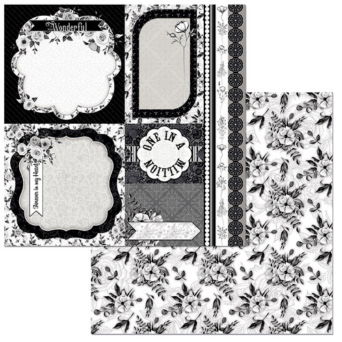 BoBunny - Black Tie Affair Collection - 12 x 12 Double Sided Paper - Romance