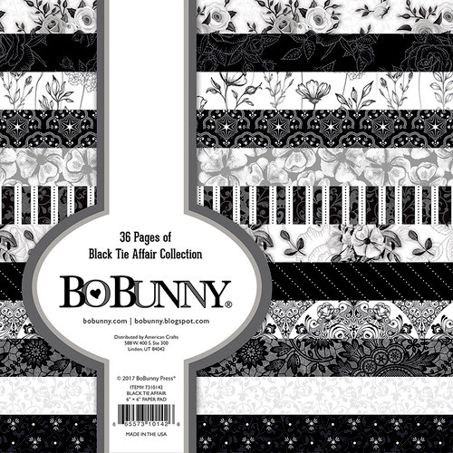 BoBunny - Black Tie Affair Collection - 6 x 6 Paper Pad