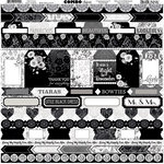 BoBunny - Black Tie Affair Collection - 12 x 12 Cardstock Stickers - Combo